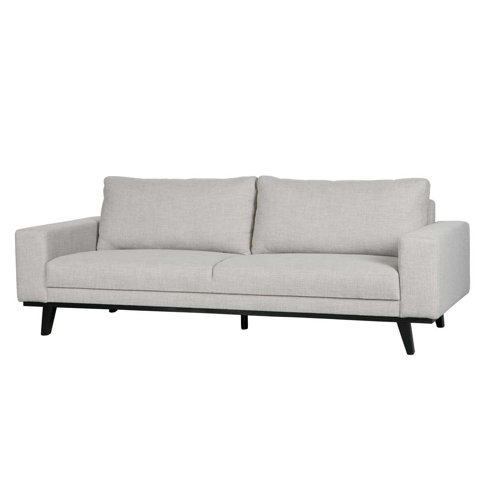 Design Sofa in Beige Webstoff Retro Look