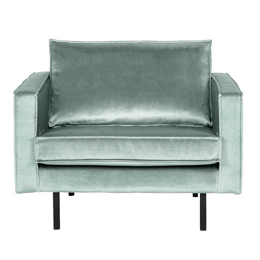 Design Sessel in Hellgrün Samtbezug