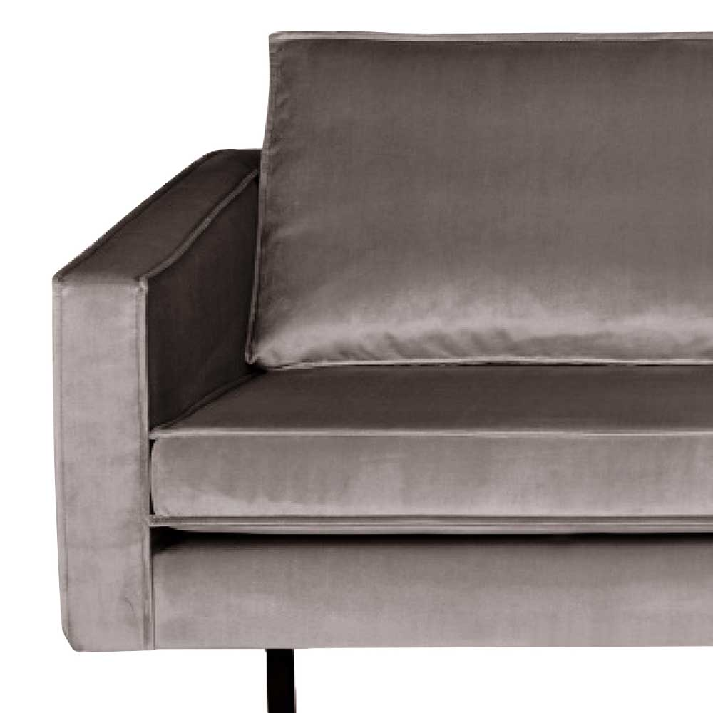 Couch in Taupe Retro Look