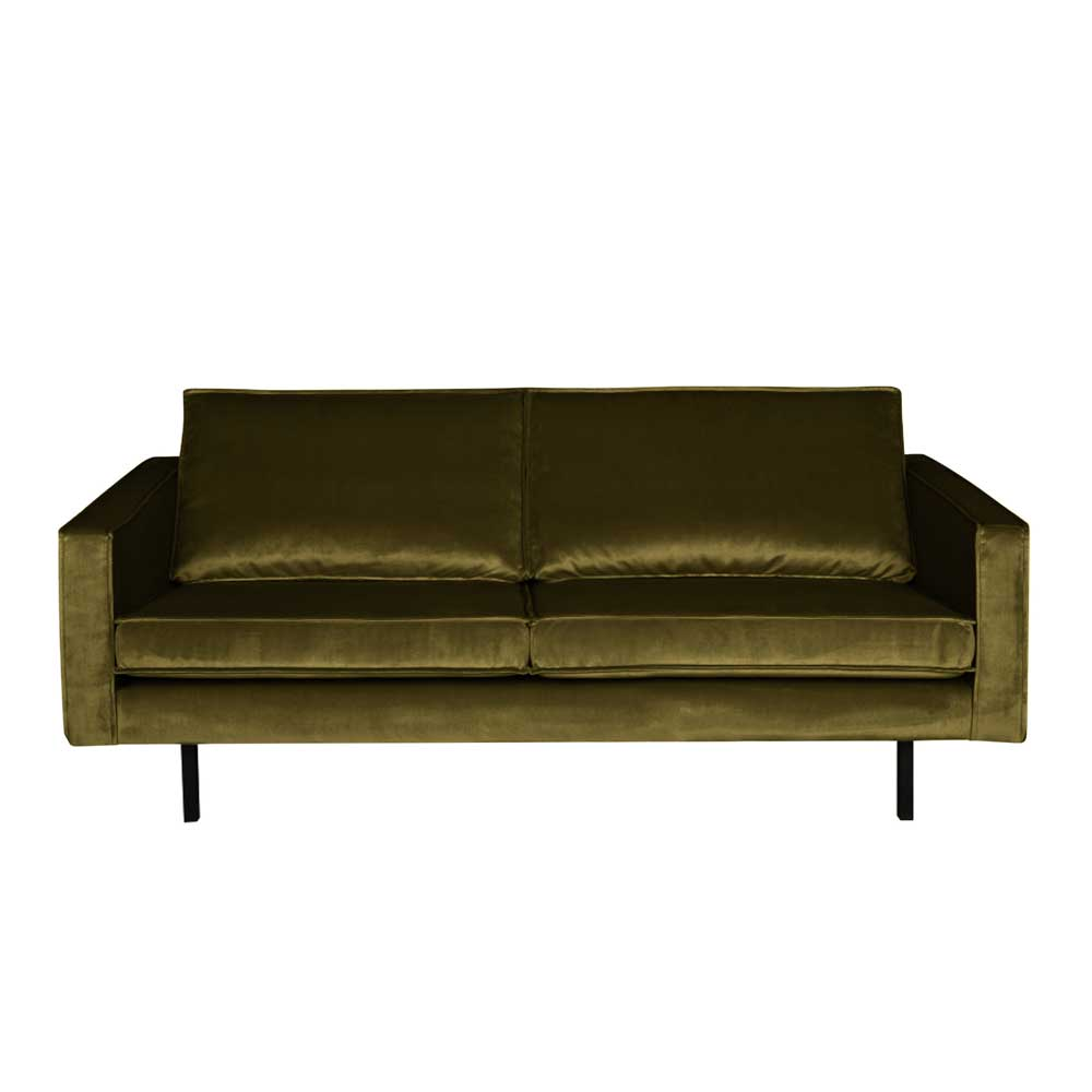 Couch in Grün Samt Retro Design