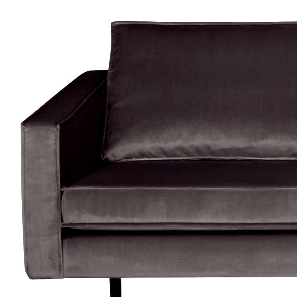 Retro Sofa in Anthrazit Samtbezug