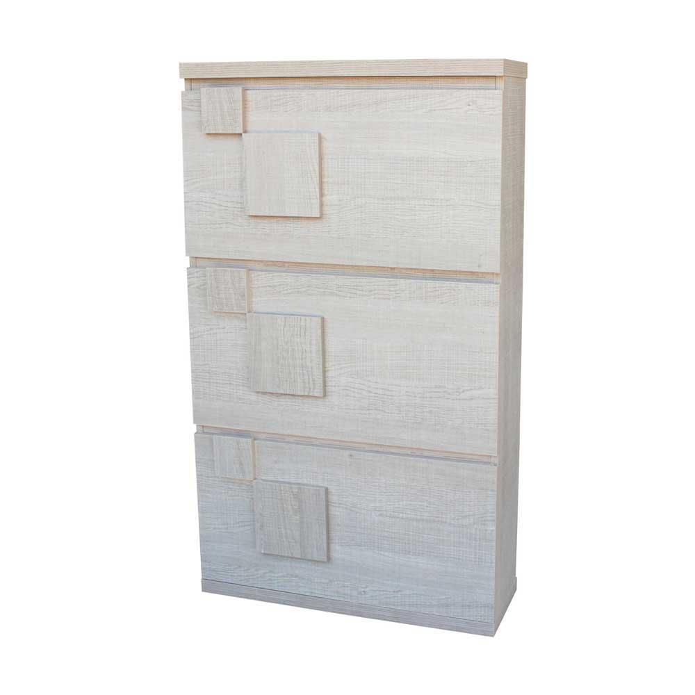 Garderoben Schuhschrank mit Klappen Eiche Sonoma | Flur & Diele > Schuhschränke und Kommoden > Schuhschränke | Holz | Holzwerkstoff | Furnitara