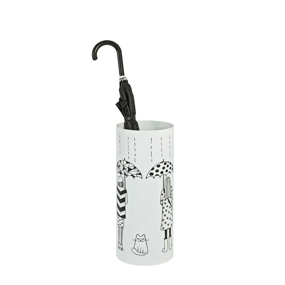 Schirmständer in Weiß Metall Motiv | Flur & Diele > Schirmständer | Weiß | Metall | Tollhaus