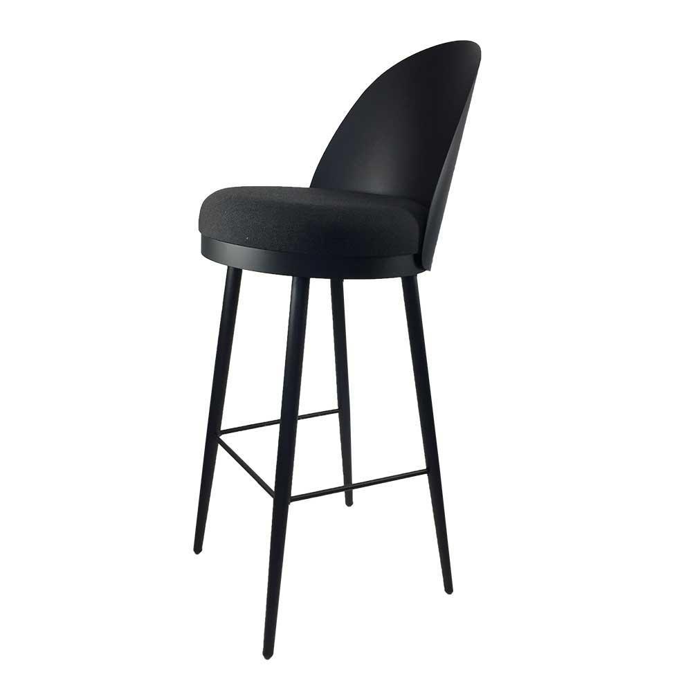 Kuechenhocker im Retrostil Schwarz   Küche und Esszimmer > Stühle und Hocker > Küchenhocker   Schwarz   Metall   Violata Furniture