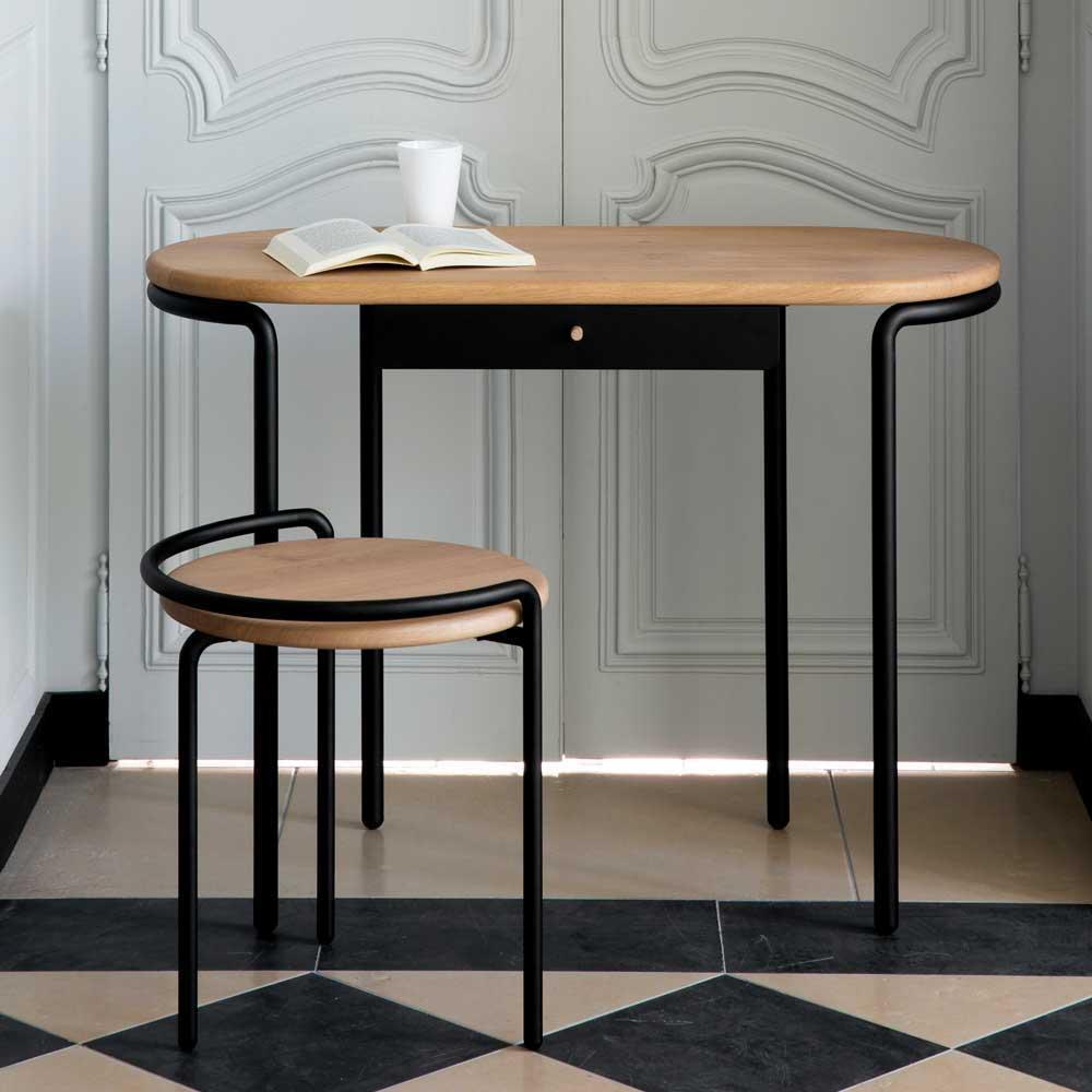 mit Ablage 120x64x120 cm WOLTU TSB01whe Schreibtisch Computertisch B/ürom/öbel PC Tisch B/ürotisch Arbeitstisch aus Holz und Stahl ca
