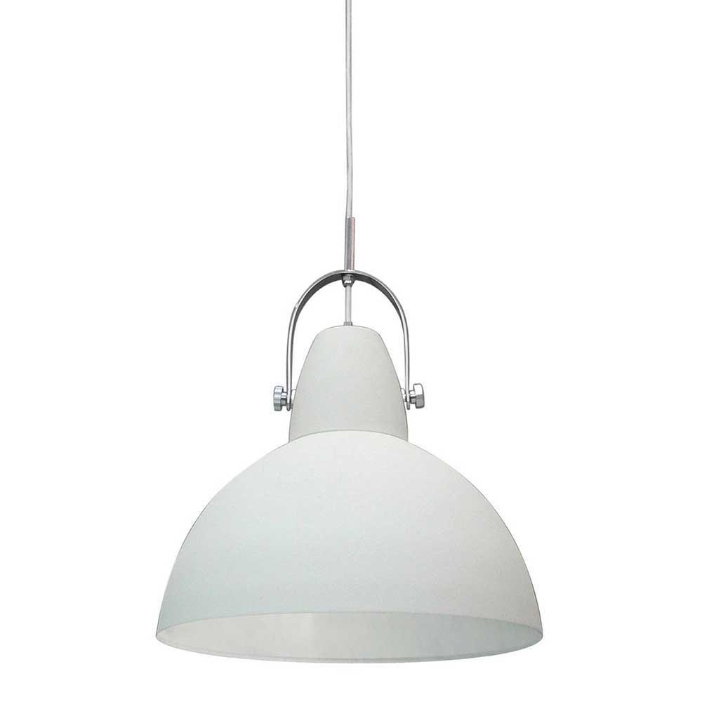 Hängeleuchte in Weiß Metall modern