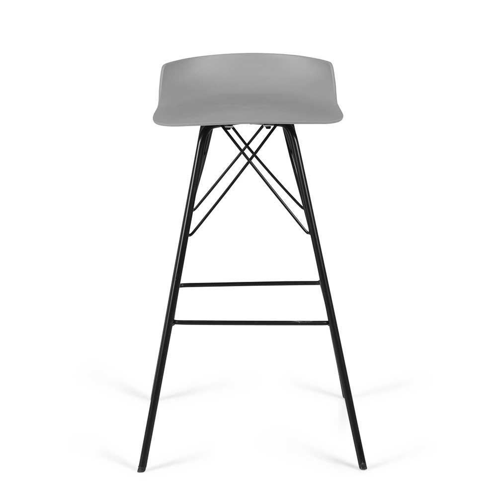Küchenhocker in Grau und Schwarz Kunststoff und Metall (2er Set)   Küche und Esszimmer > Stühle und Hocker > Küchenhocker   Doncosmo