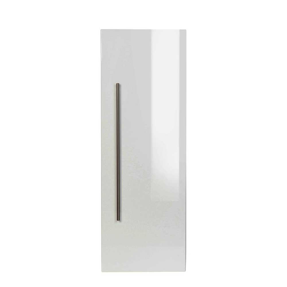 Bad Hängeschrank in Hochglanz Weiß 100 cm hoch   Bad > Badmöbel > Hängeschränke fürs Bad   Weiß   Holzwerkstoff   Möbel4Life