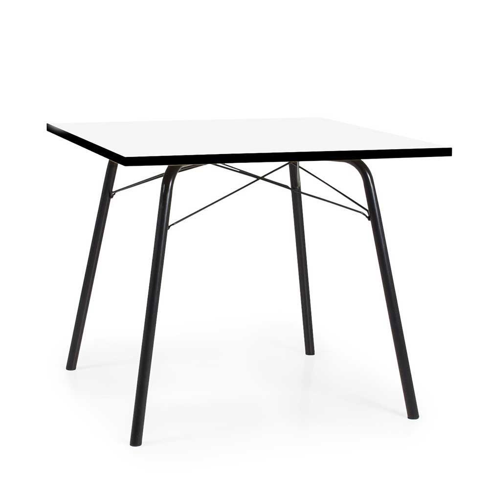 Esstisch in Schwarz und Weiß 90 cm breit
