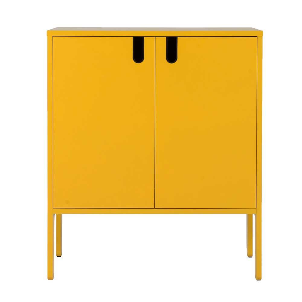 Kommode in Gelb 2 Türen