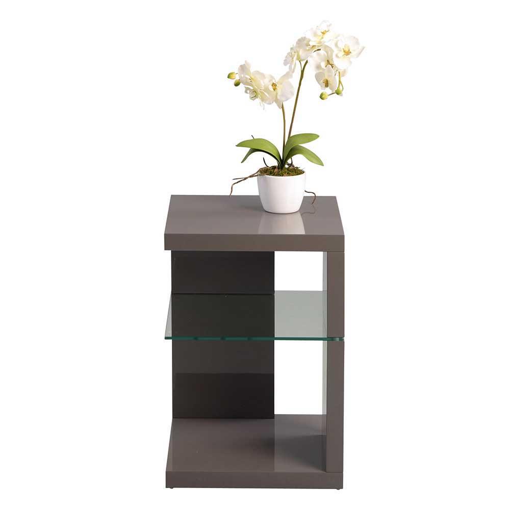 Telefontisch in Anthrazit Hochglanz Glasablage   Flur & Diele > Telefontische   Grau   Holzwerkstoff   Möbel4Life