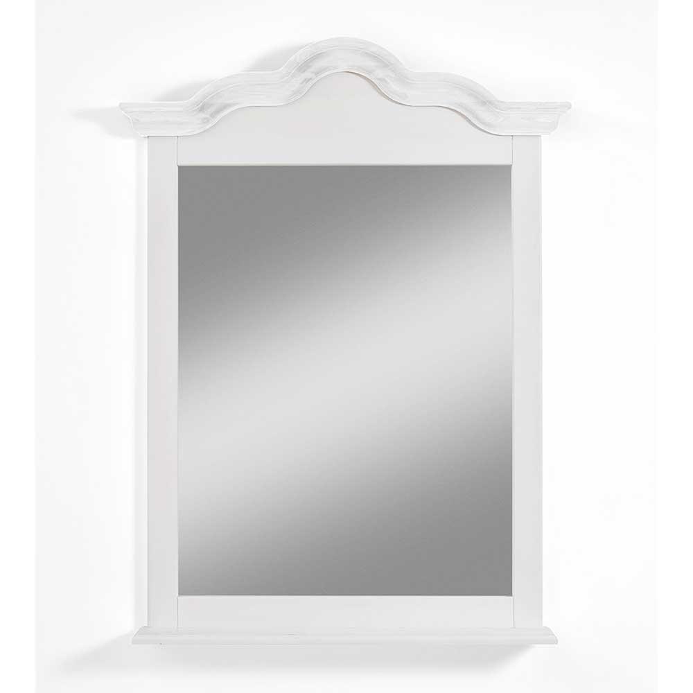 Garderobenspiegel im Landhausstil Weiß Kiefer massiv   Flur & Diele > Spiegel > Garderobenspiegel   Life Meubles