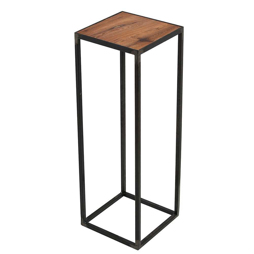 Pflanzentisch aus Eiche dunkel massiv Stahl   Dekoration > Dekopflanzen > Blumenständer   Homedreams