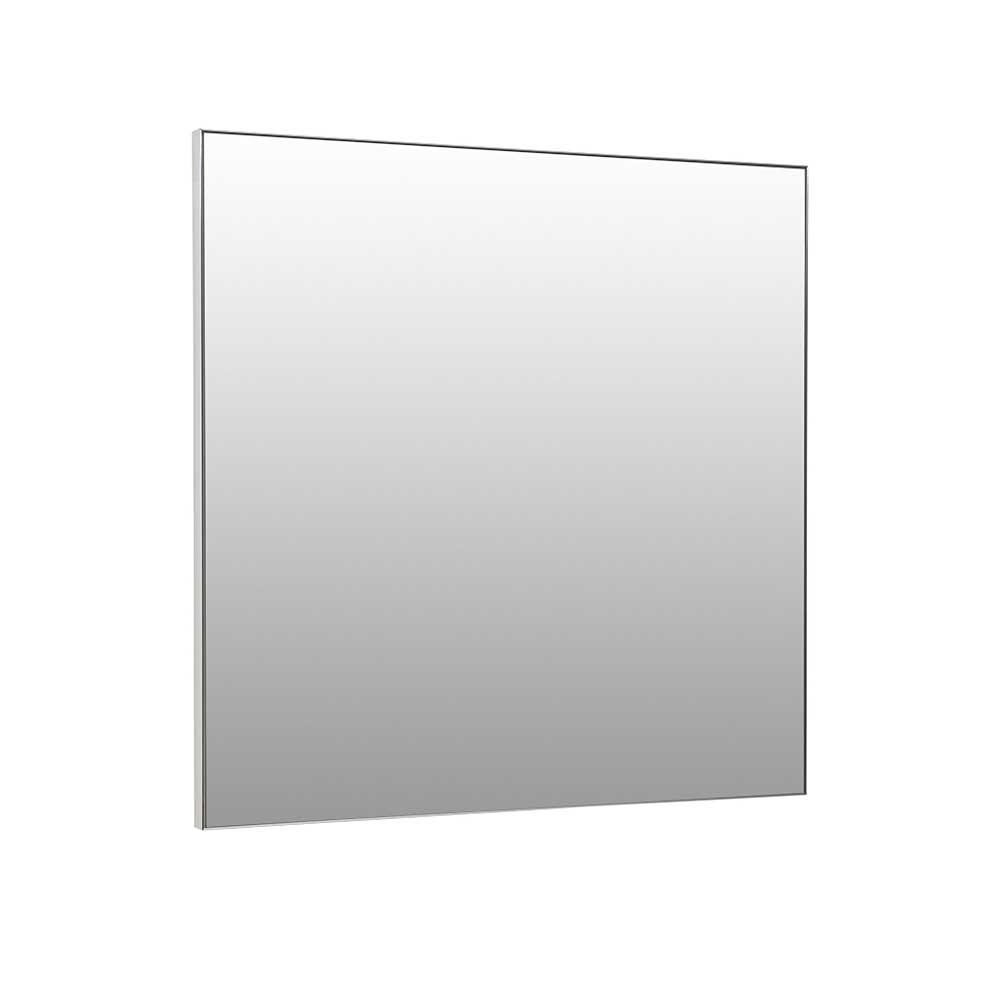Badspiegel in Silberfarben 70 cm hoch | Bad > Spiegel fürs Bad > Badspiegel | Basilicana
