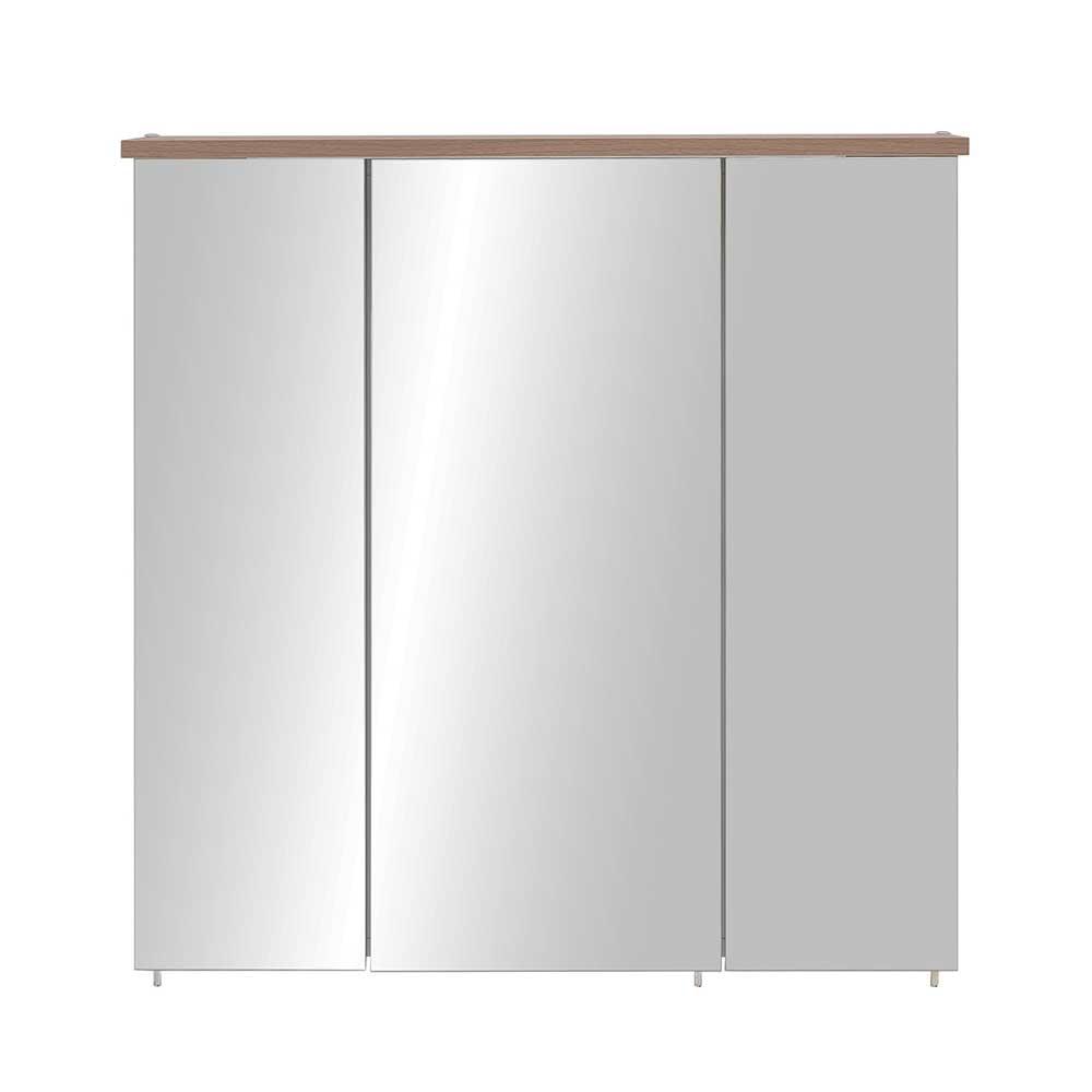 Bad Spiegelschrank im Dekor Fichte Grau LED Beleuchtung   Bad > Spiegel fürs Bad > Badspiegel   Basilicana