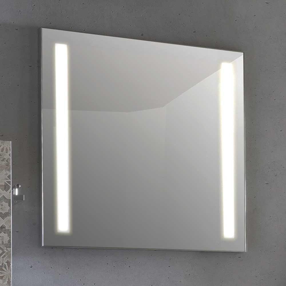 Badezimmerspiegel mit LED Beleuchtung 70 cm breit   Bad > Spiegel fürs Bad > Badspiegel   Basilicana