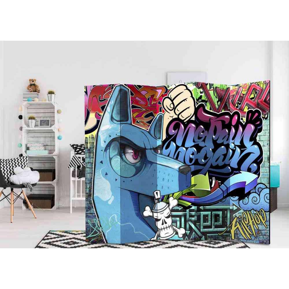 Jugendzimmer Paravent Graffiti Motiv 5 teilig | Kinderzimmer > Jugendzimmer > Komplett-Jugendzimmer | 4Home