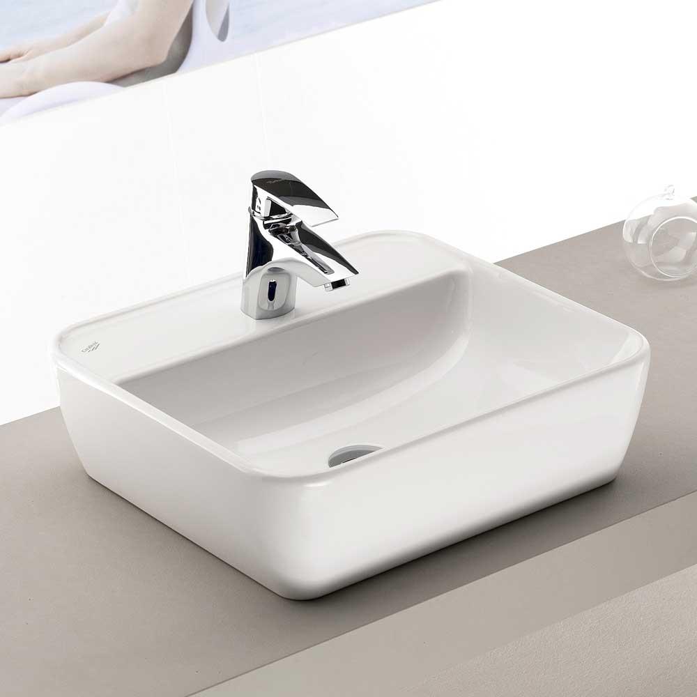 Keramikwaschbecken in Weiß 45 cm breit | Bad > Waschbecken | Weiß | Keramik | Star Möbel