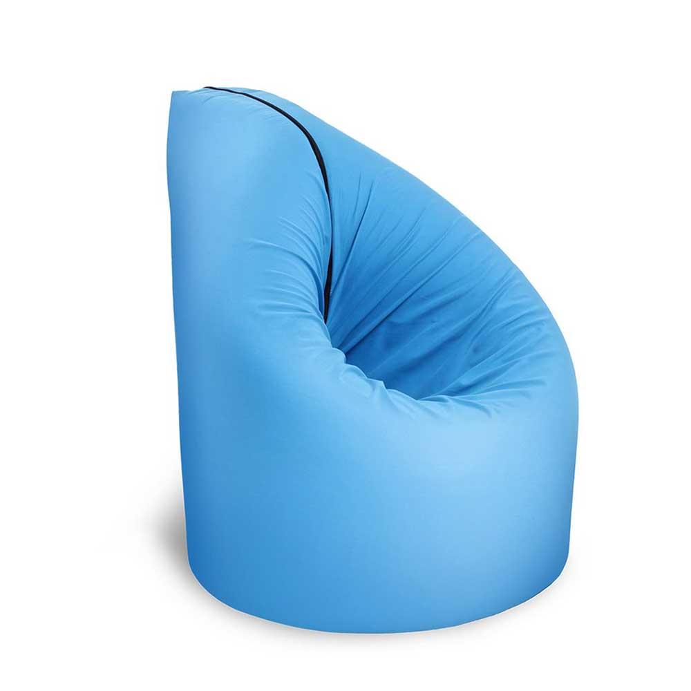 Sitzsack in Blau und Grau Matratze ausklappbar