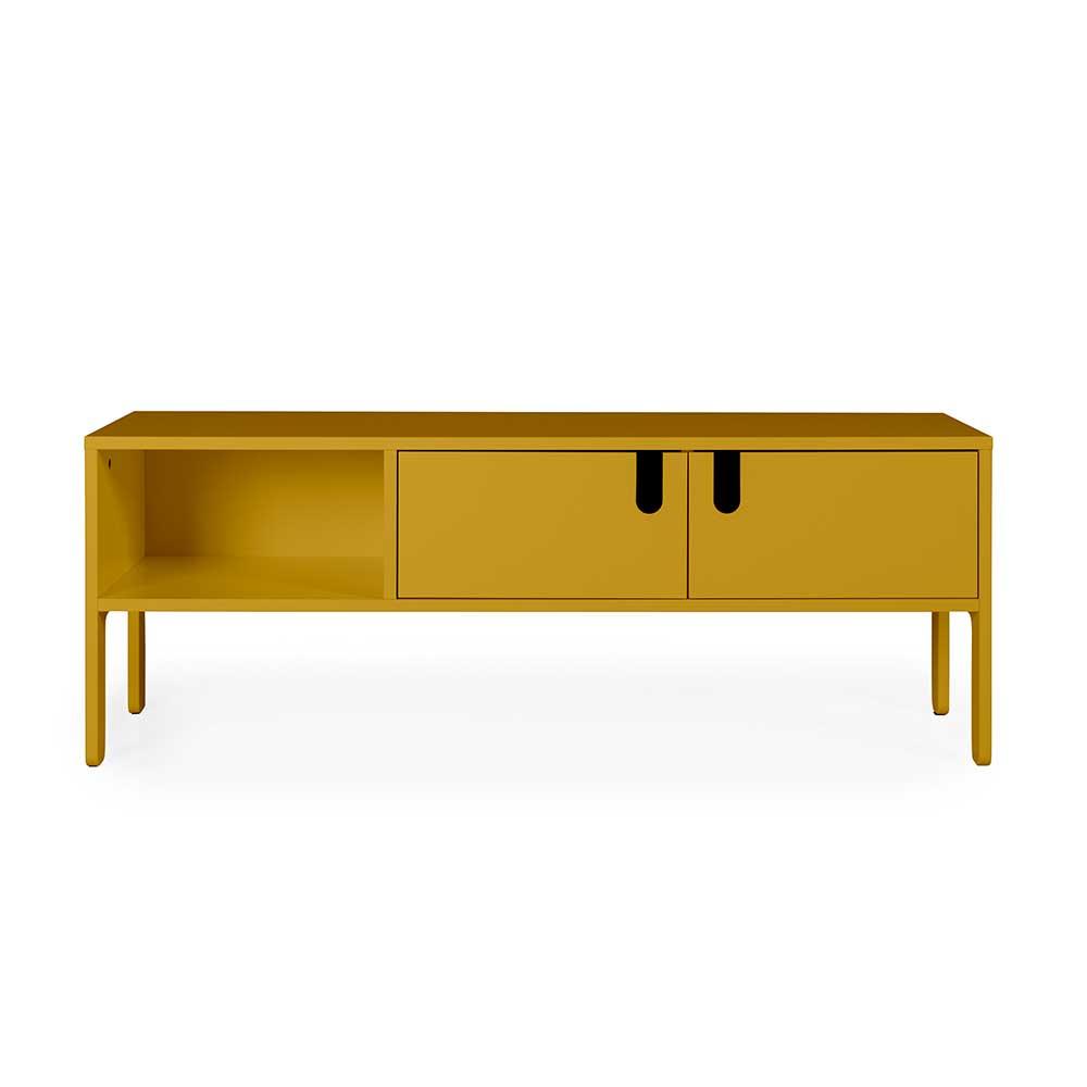 Design TV Lowboard in Gelb 50 cm hoch