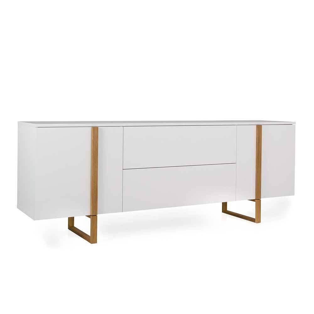 Sideboard in Weiß und Eiche Skandi Design