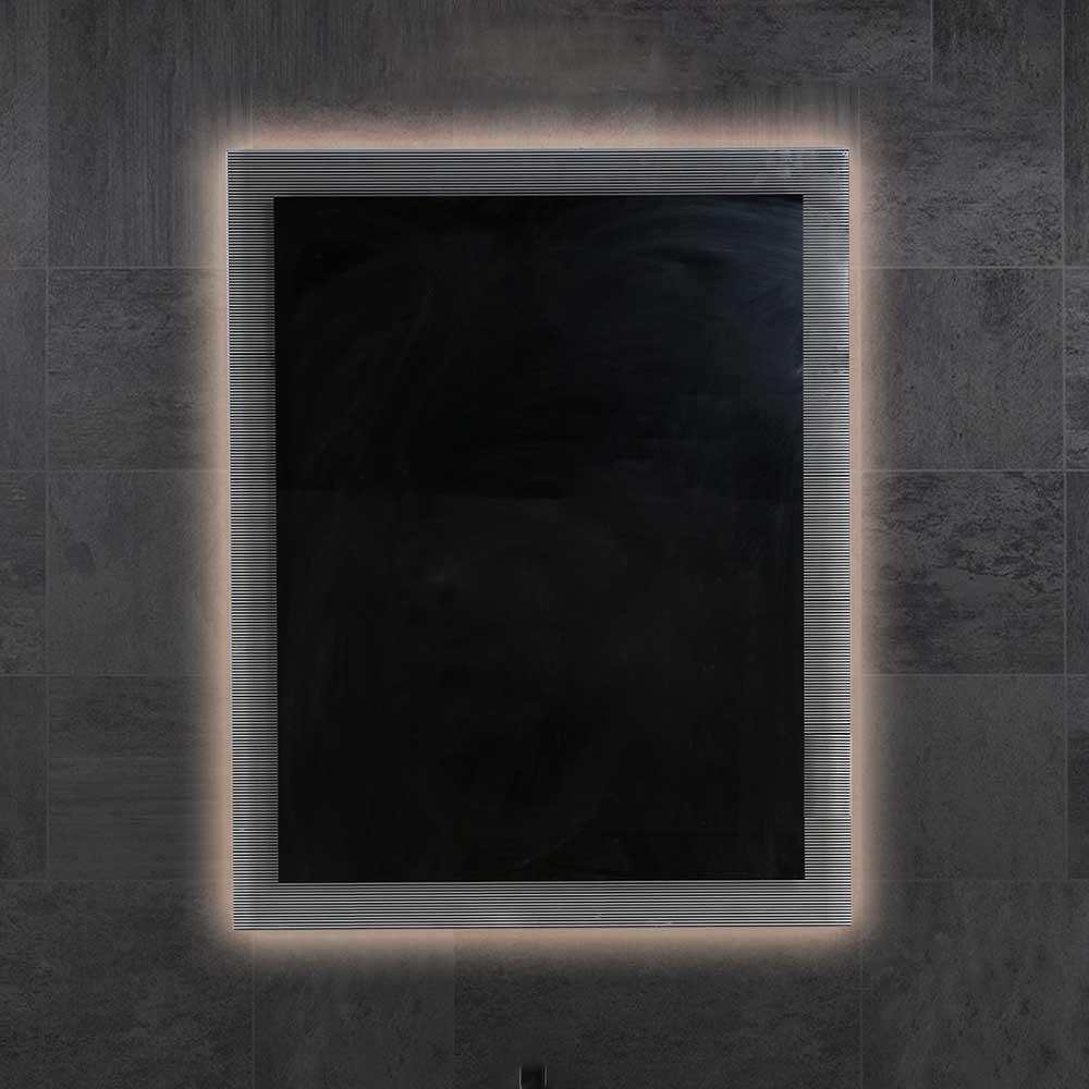 Design Badspiegel mit Glasrahmen LED Beleuchtung   Bad > Spiegel fürs Bad > Badspiegel   Furnitara