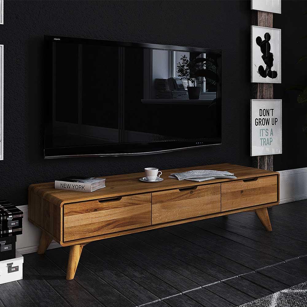 TV Möbel aus Wildeiche Massivholz geölt