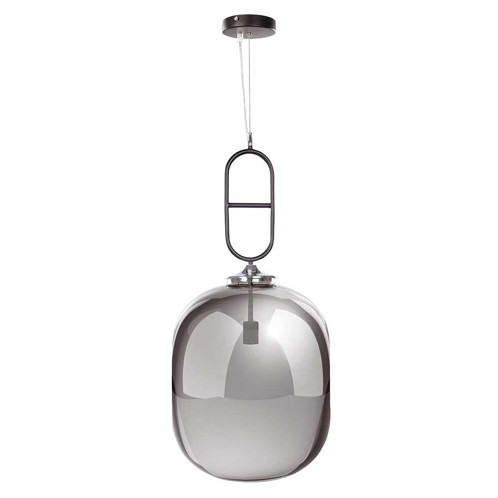 Hängeleuchte in hell Grau getönt Glas