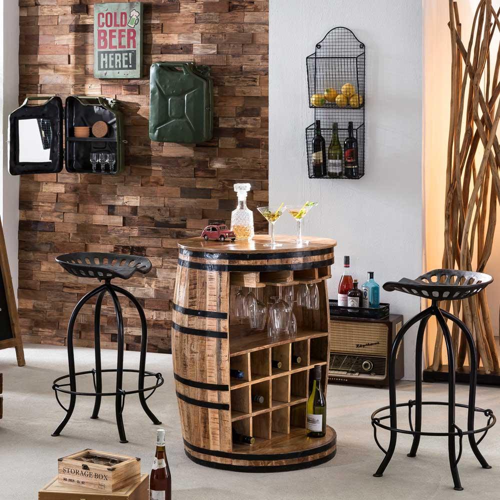 Bar Theke aus Mangobaum Massivholz rustikalen Landhausstil
