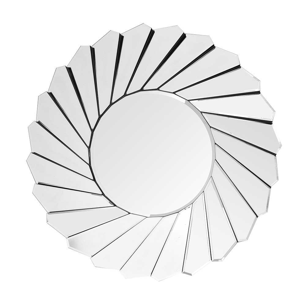 Garderobenspiegel rund Spiegelglas und Metall | Flur & Diele > Spiegel > Garderobenspiegel | Doncosmo