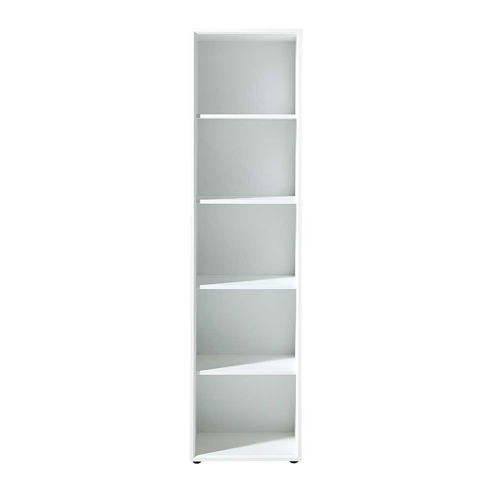 Standregal in Weiß 50 cm breit | Wohnzimmer > Regale > Einzelregale | Möbel Exclusive