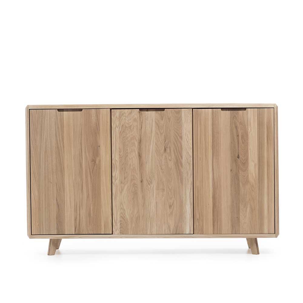 Türen Sideboard aus Wildeiche Massivholz 150 cm breit