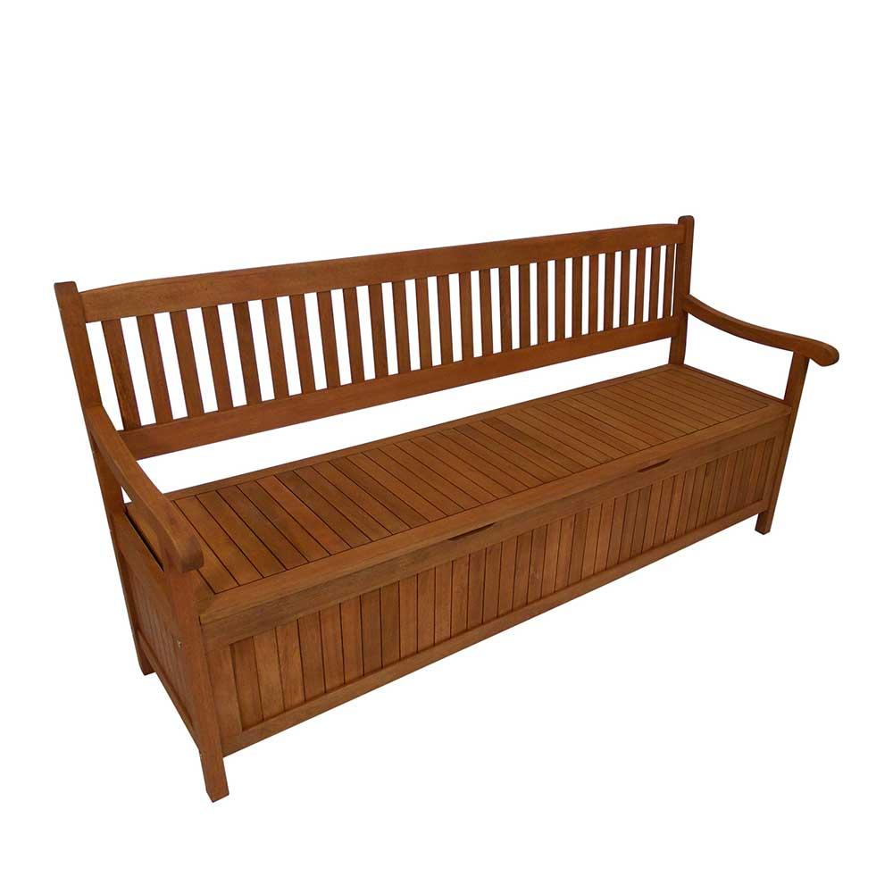 Stauraum Gartenbank aus Eukalyptusholz 180 cm breit | Garten > Gartenmöbel > Gartenbänke | 4Home