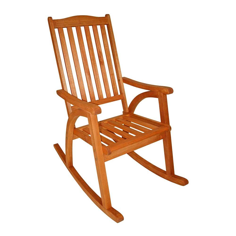 Balkon Schaukelstuhl aus Eukalyptusholz geölt | Wohnzimmer > Stüle > Schaukelstühle | Holz | Massivholz | 4Home