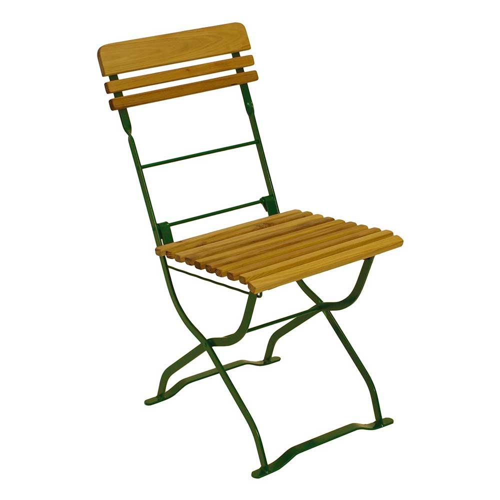 Balkonstuhl aus Robinie Massivholz und Stahl klappbar (2er Set) | Garten > Balkon > Balkon-Sets | 4Home