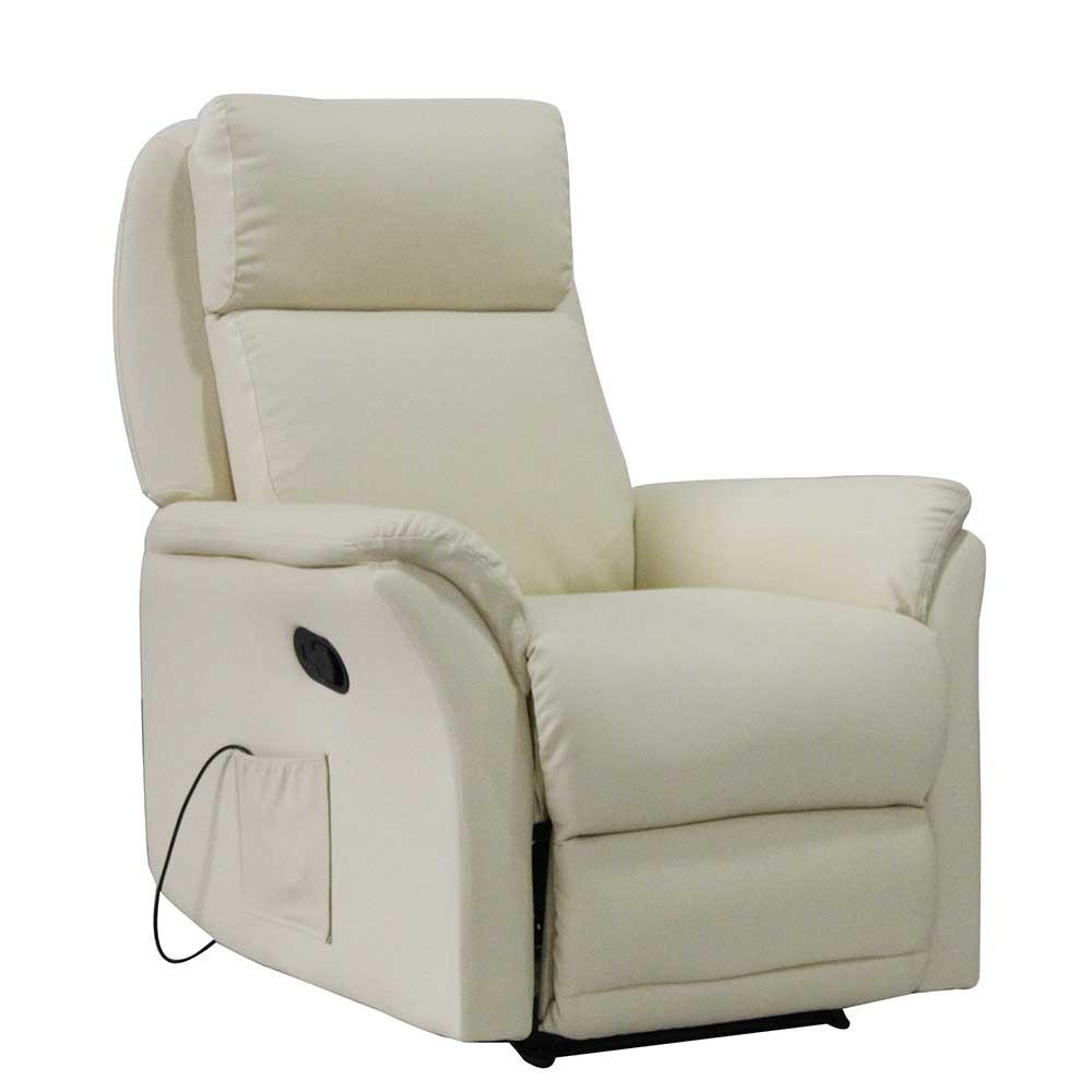 Relaxsessel in Beige Massagefunktion