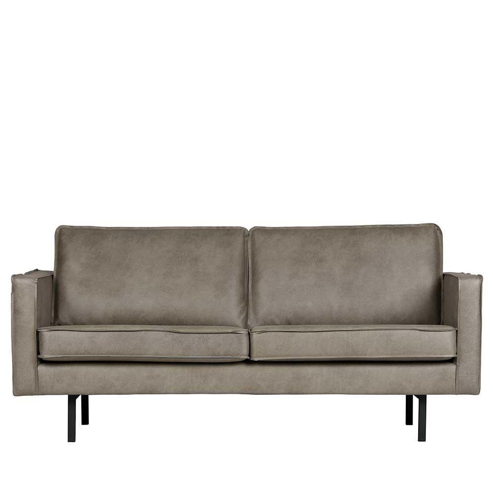 Zweier Sofa in Grau Kunstleder 190 cm breit