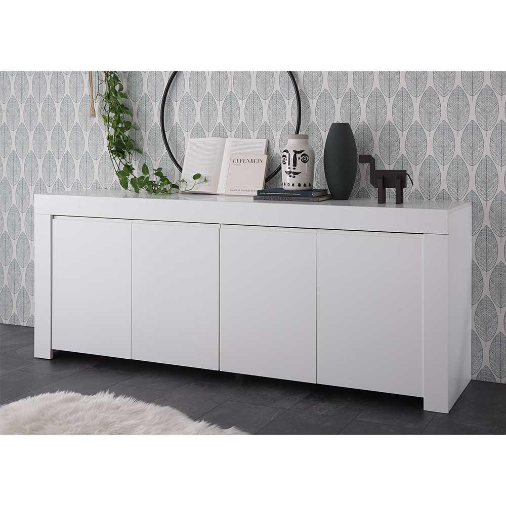 Sideboard in Weiß lackiert 210 cm breit