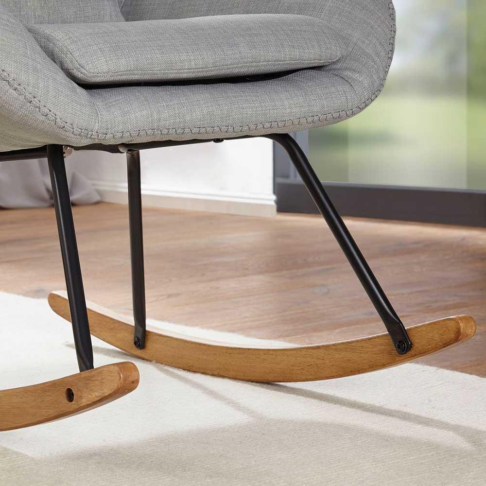 Schaukel Wohnzimmersessel mit 50 cm Sitzhöhe in Grau*