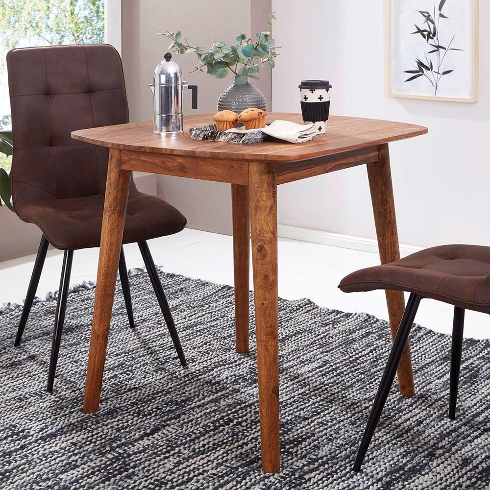Kleiner Tisch aus Sheesham Massivholz 80 cm breit