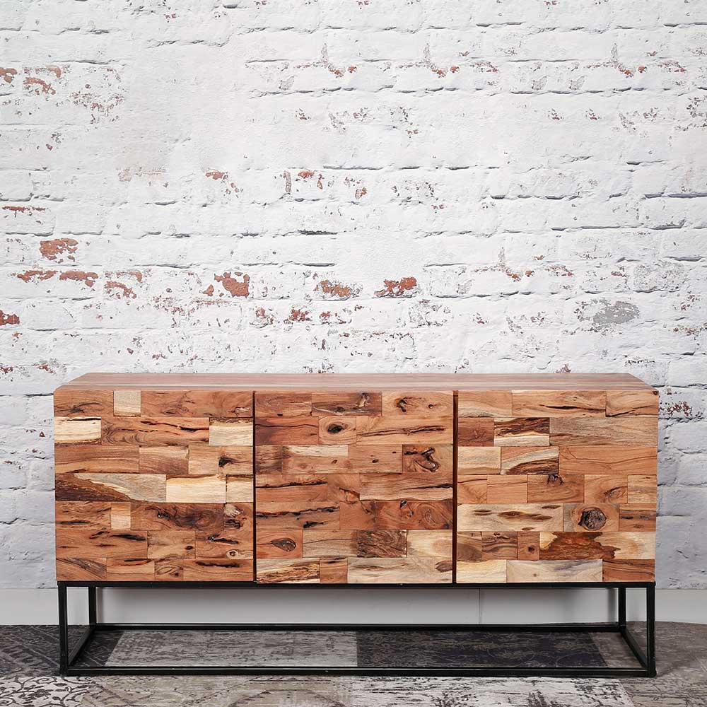 Sideboard aus Akazie Massivholz Bügelgestell