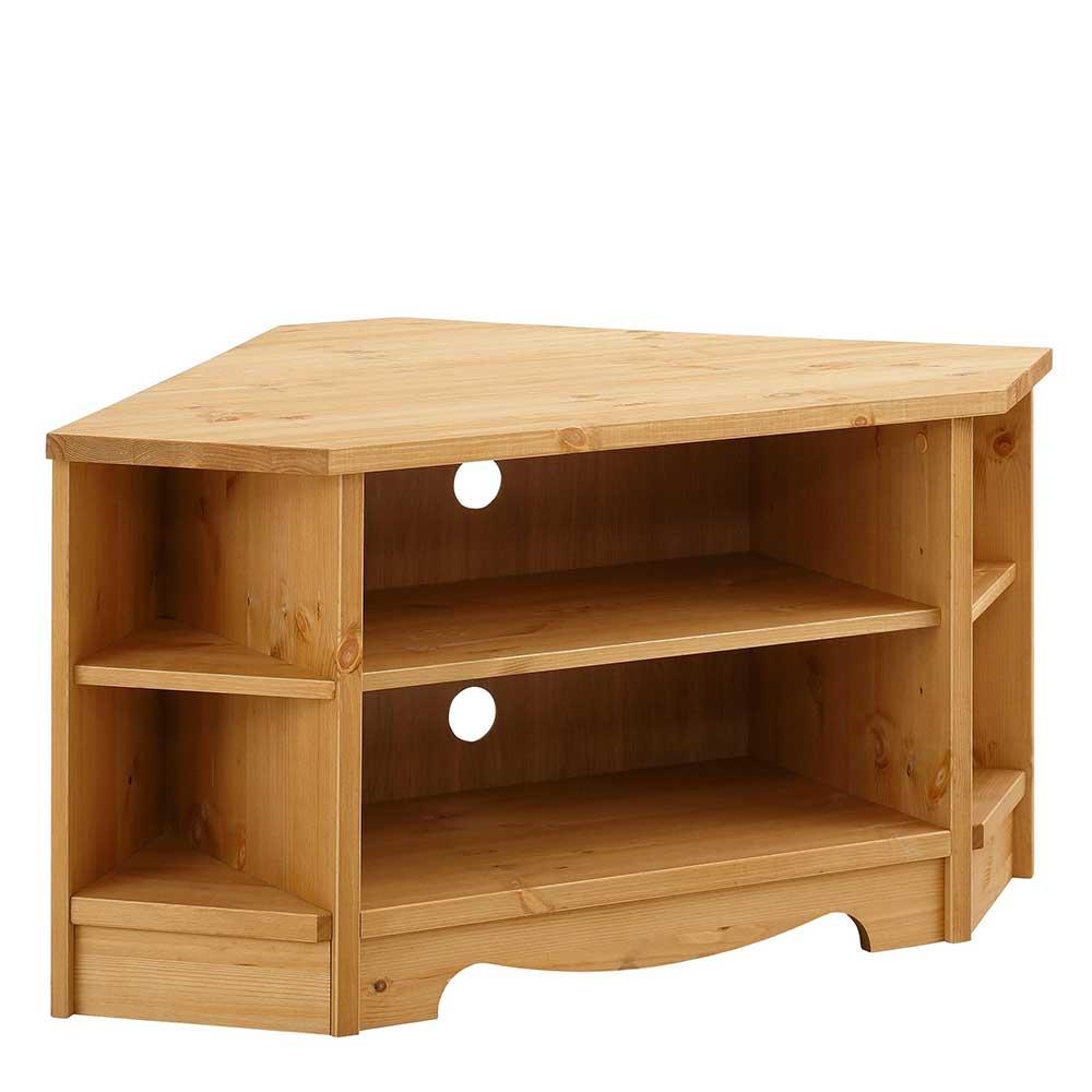 Eck TV Schrank aus Kiefer Massivholz 105 cm breit | Wohnzimmer > TV-HiFi-Möbel > TV-Schränke | Kiefer - Massivholz - Geölt | Massivio
