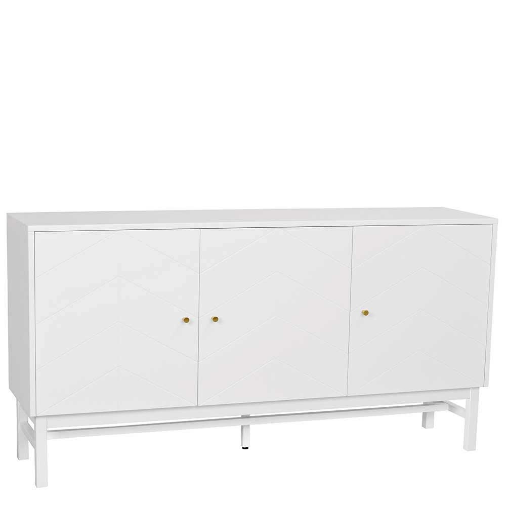 Kommode in Weiß Skandi Design