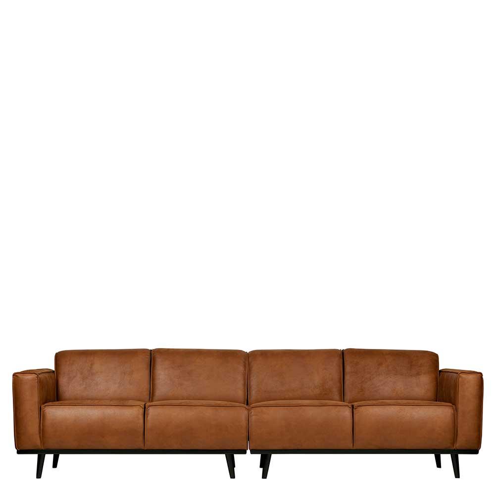 Sofa in Cognac Braun Retrostil