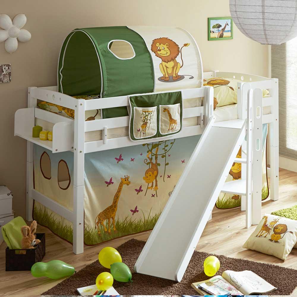Kinder Einzelbett im Zootier Design Rutsche