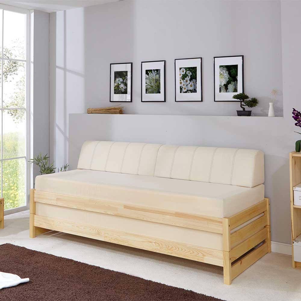 Holz Stapelliegen aus Kiefer Massivholz 90×200 cm (2-teilig)
