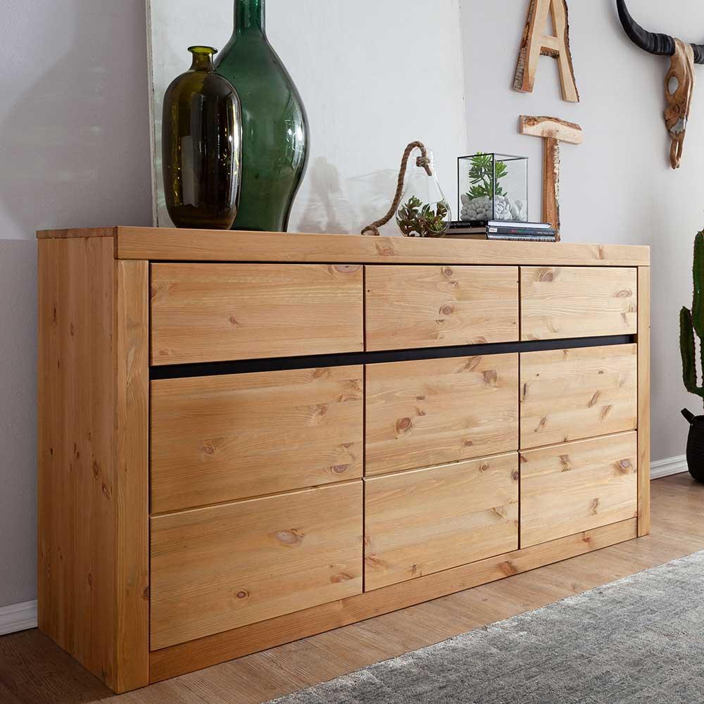 Sideboard aus Kiefer Massivholz modern