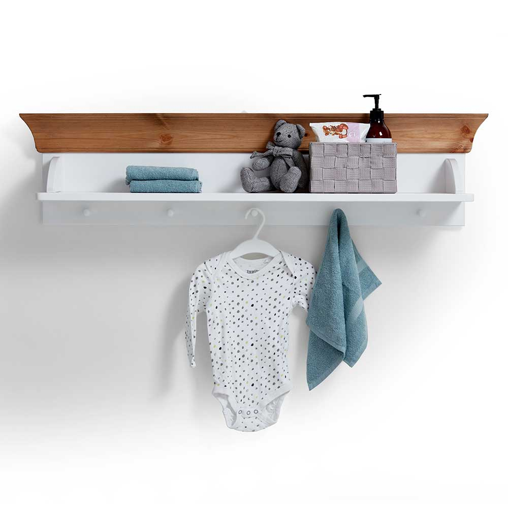 Babyzimmer Regal in Weiß Kiefer massiv hängend | Kinderzimmer > Kinderzimmerregale | Life Meubles