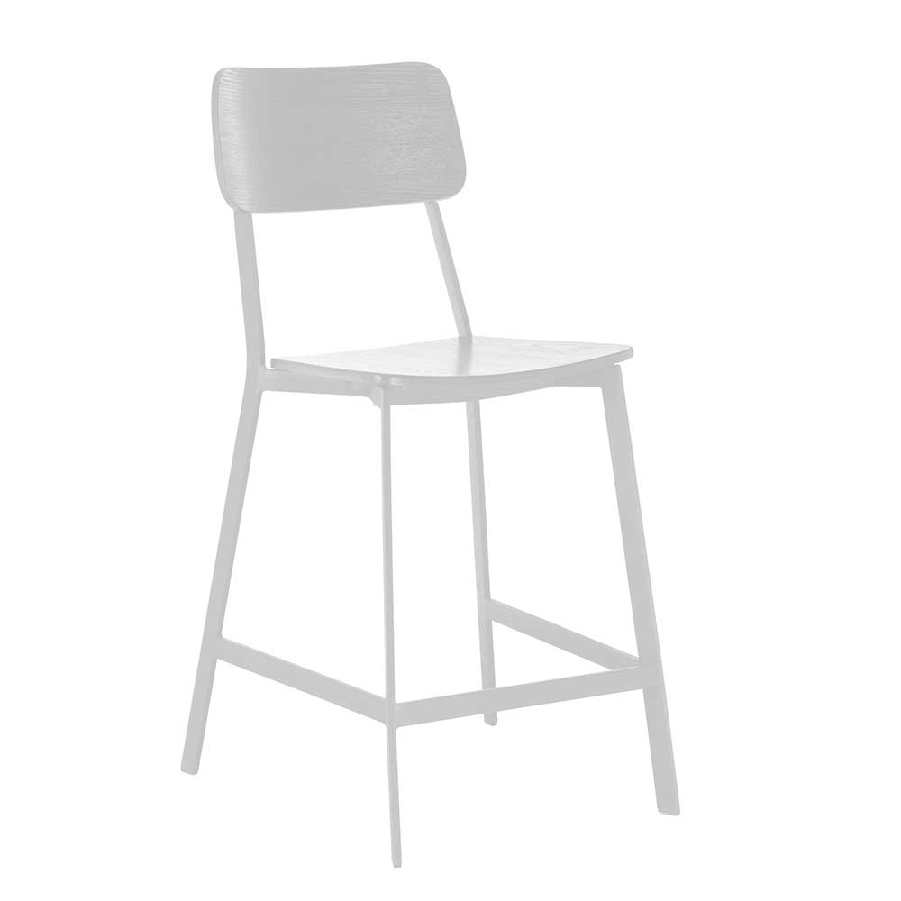 Kuechenhocker in Weiß Lehne (2er Set)   Küche und Esszimmer > Stühle und Hocker > Küchenhocker   Basilicana