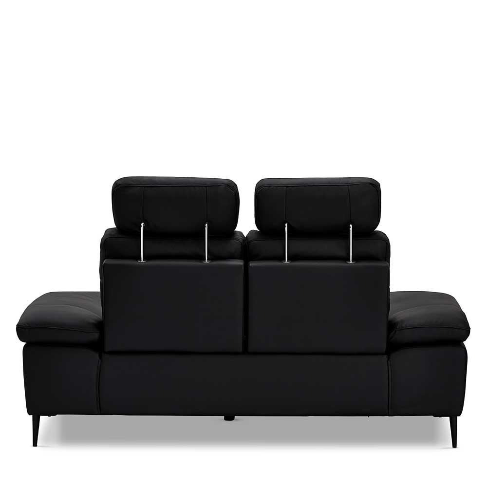 Couch in Schwarz Steck-Kopfstützen und verstellbaren Armlehnen